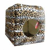 Pet Pretty Yuvalı Kedi Ve Köpek Yatağı Tay Tüyü Kumaş Tiger 40x40
