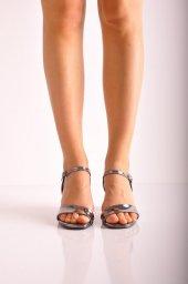 Bayan Günlük Topuklu Ayakkabı 73 Platin Ayna