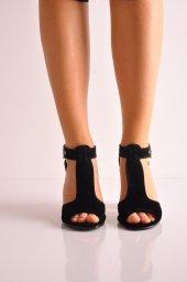 Bayan Günlük Topuklu Ayakkabı 64siyahsüet