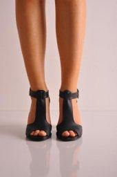 Bayan Günlük Topuklu Ayakkabı 64 Siyah Mat2