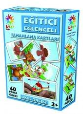 Eğitici Eğlenceli Tamamlama Kartları 40 Parça