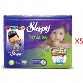 Sleepy Sensitive Junior Bebek Bezi 5 Numara 32*5 160 Adet