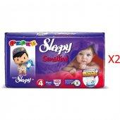 Sleepy Sensitive Maxi Bebek Bezi 4 Numara 40*2 80 Adet