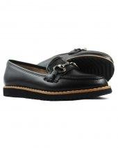 Siyah Renk Deri Tokalı Günlük Bayan Klasik Ayakkabı
