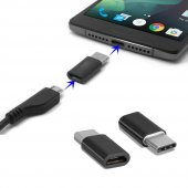 Samsung Galaxy Note 8 Type C Otg Mini Type C Dönüştürücü Siyah
