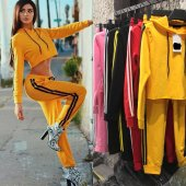 Japon Style Kadın Sarı Eşofman Takım 2 Li