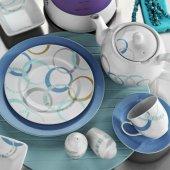 Kütahya Porselen Corner Collection 44 Parça Kahvaltı Takımı Bahar Bantlı