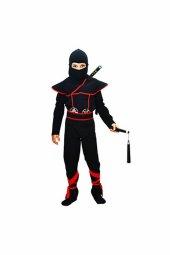 Gizli Ninja Çocuk Kostümü Lüks Siyah 5 6 Yaş 1 Adet