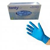 Tenty Pudrasız Mavi Nitril Eldiven 200 Adet Small