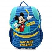 Mickey Mouse Anatomık Okul Çantası 24*39*16 Cm (Lacivert Sarı)