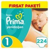 Prima Yenidoğan Bebek Bezi No 1 Beden (224 Adet) Fırsat Paketi