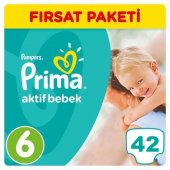 Prima Bebek Bezi No 6 Beden (9 16 Kg) 42 Adet Fırsat Paketi