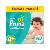 Prima Bebek Bezi No 4+ Beden (9 16 Kg) 62 Adet Fırsat Paketi