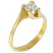 Goldstore 14 Ayar Altın Tek Taş Yüzük Grs17097
