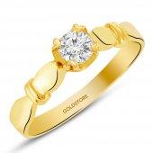Goldstore 14 Ayar Altın Tek Taş Yüzük Grs17100