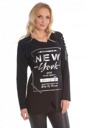New York Bayan Sweatshirt Siyah 1415 1