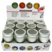 Fackelmann Manyetik Mıknatıslı Baharat Metal Kutuları 12 Adet