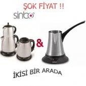 Sinbo Stm 5400 Inox Çay Makinesi&sinbo Scm2916 Inox Kahve Cezvesi