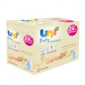 Uni Baby Yenidoğan Islak Pamuk Havlu 24lü Aylık Paket