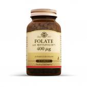 Solgar Folate (Metafolin) 400 Mcg 50 Tablet