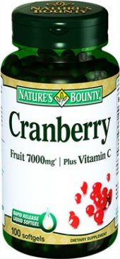 Natures Bounty Cranberry 7000mg 100 Yumuşak Kapsül Skt 06 2019