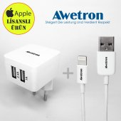 Awetron Apple İphone Lisanslı Başlık + Kablo (5 Yıl Garanti)