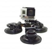 Sjcam Kameralar İçin 3 Ayaklı Profesyonel Vakumlu Vantuz