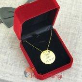 Sevgiliye Hediye İsme Özel Nazar Boncuklu Gümüş Kolye 925 Ayar