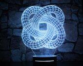16 Renk Uzaktan Kumandalı 3d Boyut Tasarım Led Masa Lambası