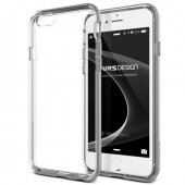 Verus İphone 6 6s New Crystal Bumper Series Kılıf Light Silver