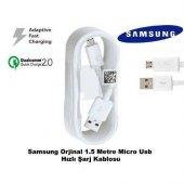 Samsung Galaxy Note 4 Hızlı Şarj Kablosu Micro Usb Şarj Data Tran