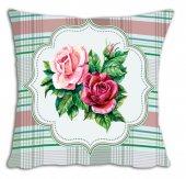 Mrs Pillow Andrea İ 01 Desenli Kırlent Kılıfı 70x70cm Ebadında