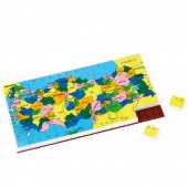 Harita Şehirler Resimli Puzzle 67 Parça
