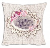 Mrs Pillow Andrea D 07 Desenli Kırlent 70x70cm Ebadında