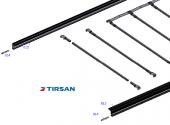 Tırsan Alüminyum Kayar Çatı Profil (162,5)
