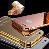 Samsung Galaxy C9 Pro C9000 Kılıf Metal Bumper Aynalı Sürgülü