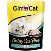 Gimcat Shinycat Tuna Balıklı Karidesli Öğünlük Kedi Konserve 70gr