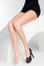 La Donna 2li Paket Kadın Fit 15 Den Parlak Dizaltı Çorap