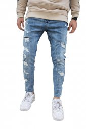 2y Buz Mavi Kot Pantolon Spor Jeans Eskitme