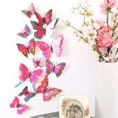 çift Kanatlı Kelebek Özel Kelebekler 3d Pvc Duvar Ve Buzdolabı Sü