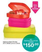 Tupperware Neon Kutu Set 3lü 3 Renk Birarada Sitedee Teeeekk
