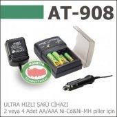 Ataba At 908 Ultra Hızlı Pil Şarj+deşarj Cihazı,220 Volt İle Evle