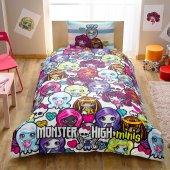 Taç Monster High Mini Pamuklu Nevresim Takımı
