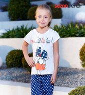 Rolypoly Süprem 1053 Pamuklu Pijama Takımı Beyaz