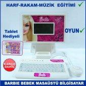 Tablet Hediyeli Barbie Bebek Modeli Eğitici Masaüstü Bilgisayar