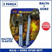 Balta Ve Gürz Oyuncak Seti 2 Parça Kaliteli Plastik Savaş Oyuncağ