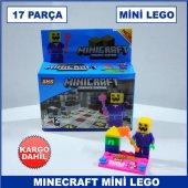 17 Parça Minecraft Mini Lego Seti Çocukların Zeka Gelişimine Yard