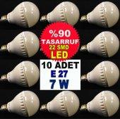 10 Adet Tasarruflu E27 Duy 7w 500lm Smd Led Ampül