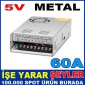 5v 60 Amper Metal Kasa İç Mekan Led Adaptörü