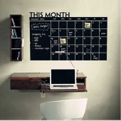 Takvim Ajanda Yazılabilir Duvar Çıkartması Karatahta Sticker Ofis